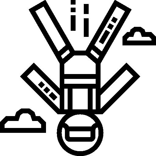 Icon af faldskærmsudspringer